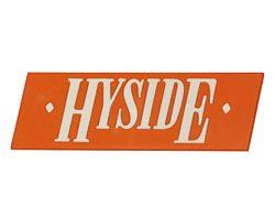 Hyside Boat Logo Emblem Orange