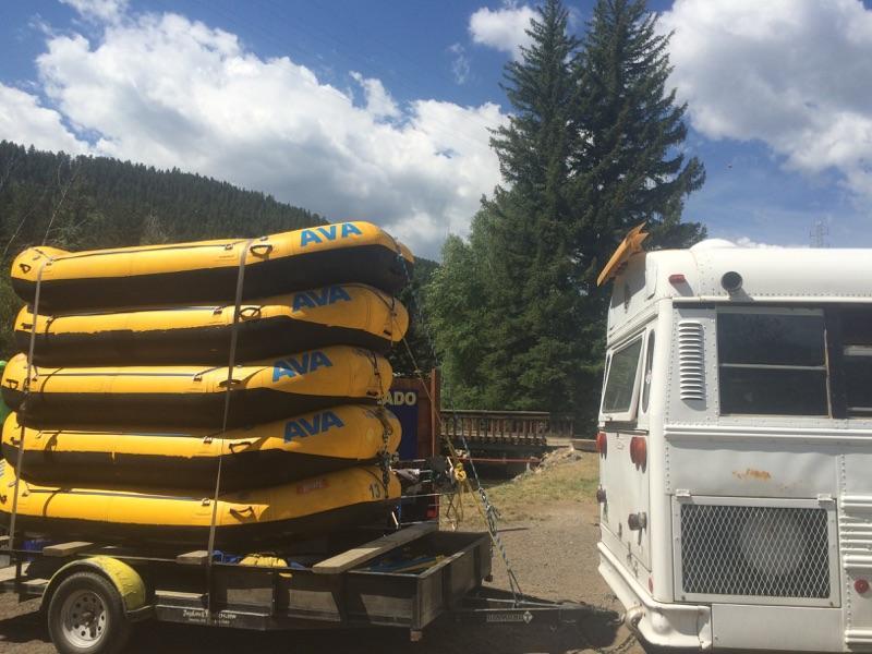 Loading boats - trailer